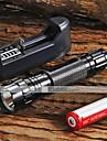 Освещение Светодиодные фонари Ручные фонарики LED 1300 Люмен 5 Режим Cree XM-L T6 18650 Фокусировка Нескользящий захват