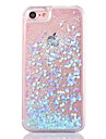 Étui arrière pour iphone 7 7 plus fluide fluide transparente glitter brillant couverture de pc rigide pour iphone 6 6s plus se 5s 5