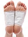 1 caixa de toxina do corpo limpeza saudável emagrecimento detox pés pé patches kit almofadas (10 patches e 10 adesivos)