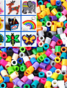 Approx 1000PCS/Bag 5MM Mixed Color Fuse Beads Hama Beads DIY Jigsaw EVA Material Safty for Kids(Random Color)