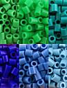 약 500PCS / 가방 5mm 퓨즈 비즈 하마 비즈 아이를위한 DIY 퍼즐 EVA 소재의 추구한다 (모듬 6 색, B25-B33)