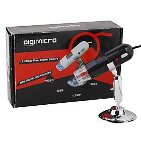 DigiMicro 1.3MP 200X Zooming USB Digital Microscope with 8-LED Illumination