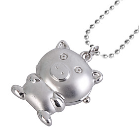 reloj collar con encanto (cerdo)