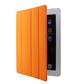 Sleep/Wake-up enabled Leather Case for iPad 2 (Orange)