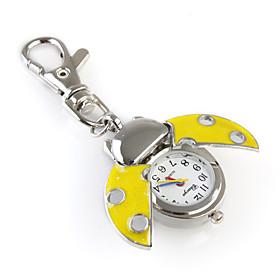 novedad mariquita llavero reloj, amarillo