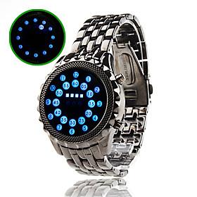 Reloj Pulsera de Luces Indicadores LED Azules