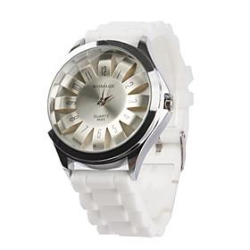 Reloj Pulsera Quartz Crisantemo Unisex (Blanco)