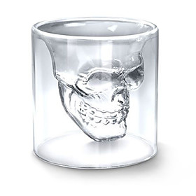 Cool Transparent Creative Scary Skull Head Design Novelty Drinkware Wine Shot Glass Cup 75ML 252149