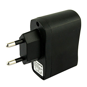 EU Plug USB AC DC Power Supply Wall Charger Adapter MP3 MP4 DV Charger (Black)
