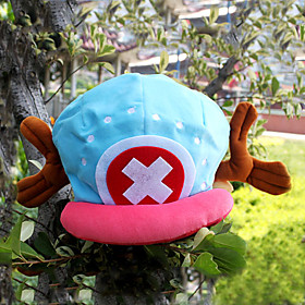 Hat/Cap Inspired by One Piece Tony Tony Chopper Anime Cosplay Accessories Cap / Hat Blue / Pink Velvet Male 363027