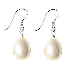 Women's Pearl Drop Earrings Pearl Sterling Silver Imitation Pearl Earrings Drop Ladies Jewelry White / Black / Pink For Daily / Shell / Pink Pearl / Black Pear