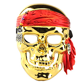 Electroplating Pirate Skull Face Mask for Halloween Costume Party 407353