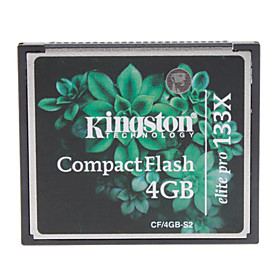 4GB Kingston Elite Pro 133X Compact Flash CF Memory Card