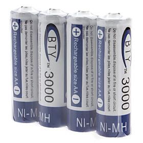 BTY AA 3000mAh Ni-MH-Batterien (1,2 V, 4-Pack) 426855