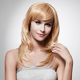 Capless Long High Quality Synthetic Staight Blonde Hair Wig 70983