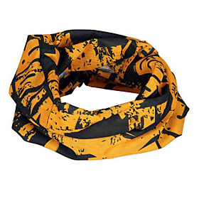 100% Polyester Cycling Scarf (gul og sort)