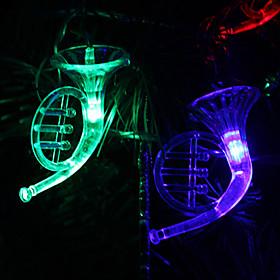 6M 32-LED Musical Instrument Shaped Colorful Light String Fairy Lamp for Christmas (220V) 476144