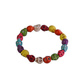 Women's Bead Bracelet Skull Bracelet Jewelry Rainbow For Party Daily Casual