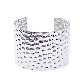 Imitation Rhodium Shining Arc Shaped Alloy Bracelet