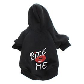 Bite Me Stil Fleece Hoodies for Dogs (Black, XS-L) 487846