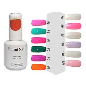 UV Gel Colorful Nail Art Nail Polish (15 ml, 1 botella) 480698