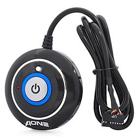 JM-202 Desktop Power Button Switch Module para PC (Negro, 110 cm de cable) 507290