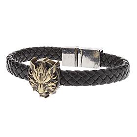 Men's Fashion Wolf Magnetic Buckle Woven Bracelets