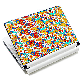 """""""Chrysanthemum Smile Face"""" Pattern  Laptop Notebook Cover Protective Skin Sticker For 10″/15″ Laptop 18322"""