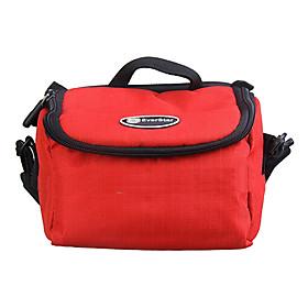 Ripstop Polyester gepolsterte Schutzhülle Tasche für Digitalkamera Large Size - Red 540599
