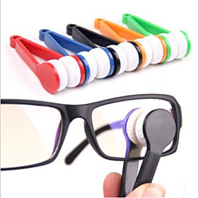 Mini Microfiber Glasses Cleaner Eyeglasses Cleaner Cleaning Clip Soft Brush Cleaning Tool Portable 213937