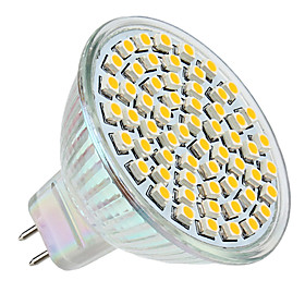 3W GU5.3(MR16) LED Spotlight MR16 60 SMD 3528 250 lm Warm White DC 12 V 553614