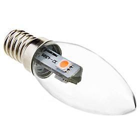 0.5W 15-30lm E14 LED Candle Lights C35 3 LED Beads SMD 5050 Decorative Warm White 220-240V
