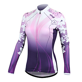100% Polyester manches longues Solaires Cycling Jersey C01025 Santic femmes – Violet