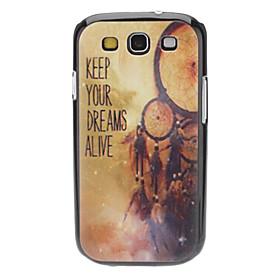KEEP YOUR DREAMS ALIVE Pattern Hard Case für Samsung Galaxy S3 I9300 678171