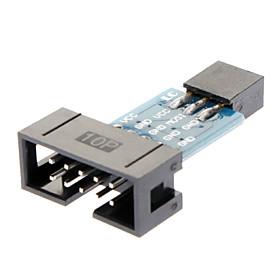 ATMEL ISP Programmer 10 Pin zu 6 Pin Konverter - Schwarz 639083