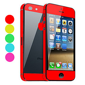 Cor sólida Guarda pele com Back Protector Preto para iPhone 5 (Opcional Cores) 674900