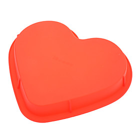 Sweet Heart Shaped Silicone Cake Pizza Mould (Random Color) 716676