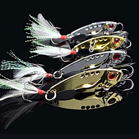 Fishing 3-Hooks with Fish-Shaped Metal Lure(7g,12g;) 706905
