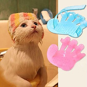 Cat Dog Grooming Brush Baths Pet Grooming Supplies Massage Random Colour 381164