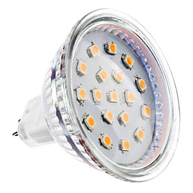 4W GU5.3(MR16) LED Spotlight MR16 15 SMD 2835 300 lm Warm White DC 12 V 703234