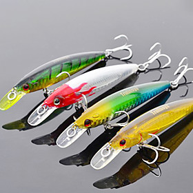 Trulinoya-Hard Mini Bait Internal Radiation Minnow 95mm/9g/1m Fishing Lure (Random Color) 695920