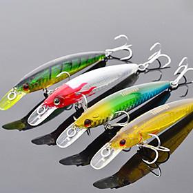 Trulinoya-Hard Mini Bait Internal Radiation Minnow 95mm/9g/1m Fishing Lure (Random Color) 695920