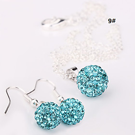 Women's Crystal Jewelry Set - Crystal Ball Fashion Include Drop Earrings 15 / 16 / 17 For Wedding Party Birthday / Necklace