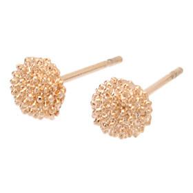Rose Gold Half-Ball Stud Earrings