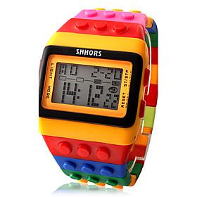 Women's Digital Watch Digital Alarm Calendar / date / day Chronograph Plastic Band Digital Candy color Fashion Wood Orange Two Years Battery Life / LCD / Desay