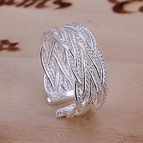 Women's Band Ring Open Cuff Ring Alloy Ladies European Fashion Open Ring Jewelry Silver For Wedding Party Daily Casual Masquerade Engagement Party Adjustable