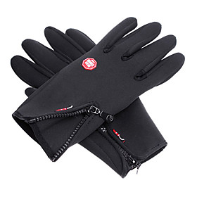 Wind Protection Waterproof Black Full Finger Skiing Gloves 764442