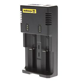 Battery Charger for Li-ion Ni-MH Ni-Cd Battery Black