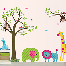 DIY Wall Stickers Animal Cartoon Zoo Washable Wall Decals 840606
