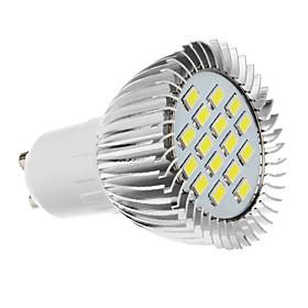 QooK GU10 60 LED 3528 SMD Cold White Spotlight Bulb Lamp (220~240V)